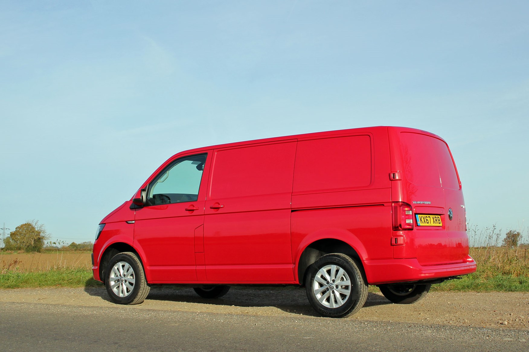 VW Transporter T6 TSI 150 review - rear view, red