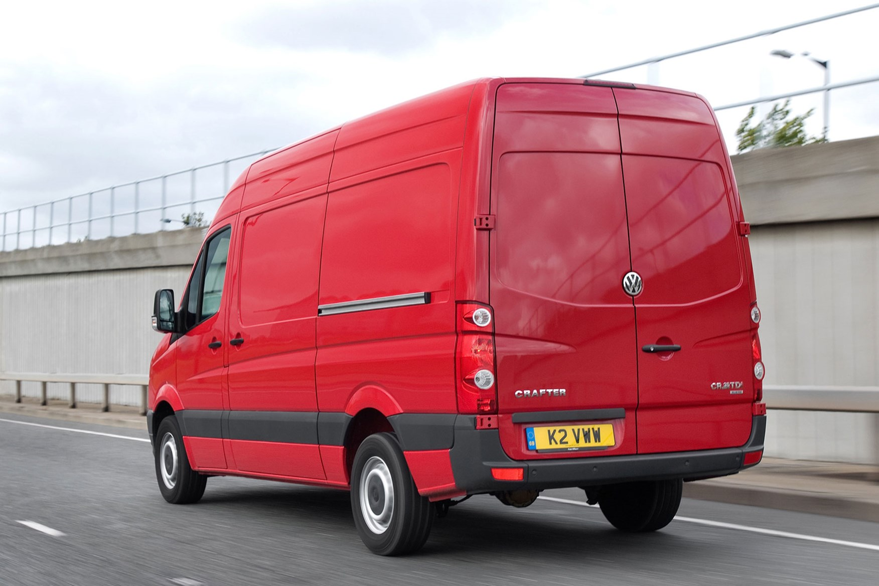 VW Crafter (1996-2003) rear view driving
