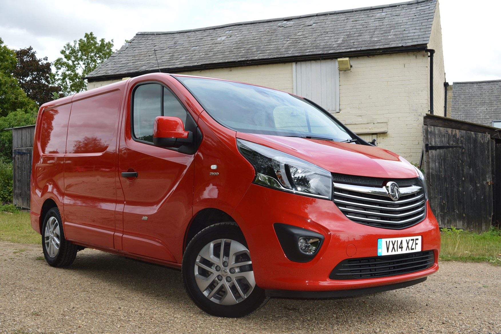 Vauxhall Vivaro Sportive EU5 review - front view, red