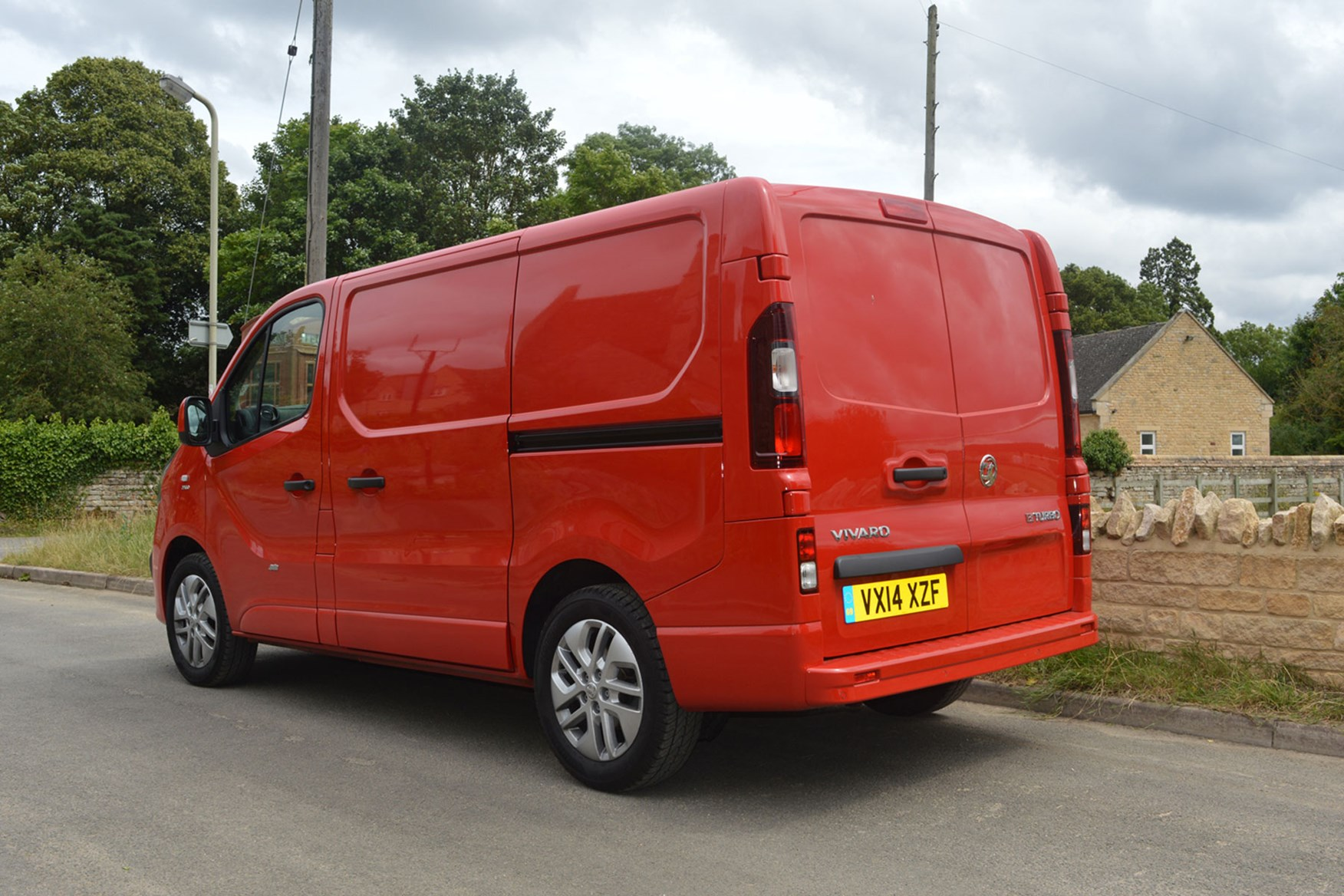 Vauxhall Vivaro Sportive EU5 review - rear view, red