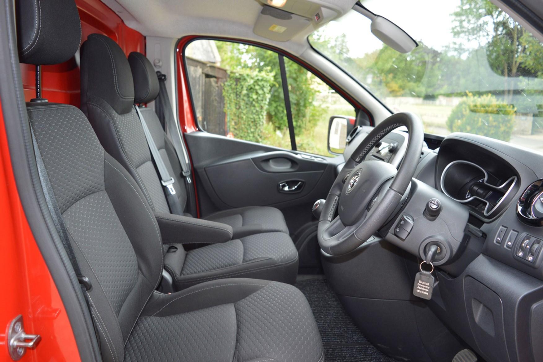 Vauxhall Vivaro Sportive EU5 review - cab interior