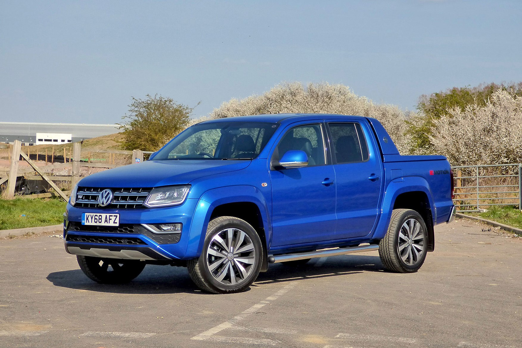 VW Amarok V6 Aventura 258hp review - front view, blue