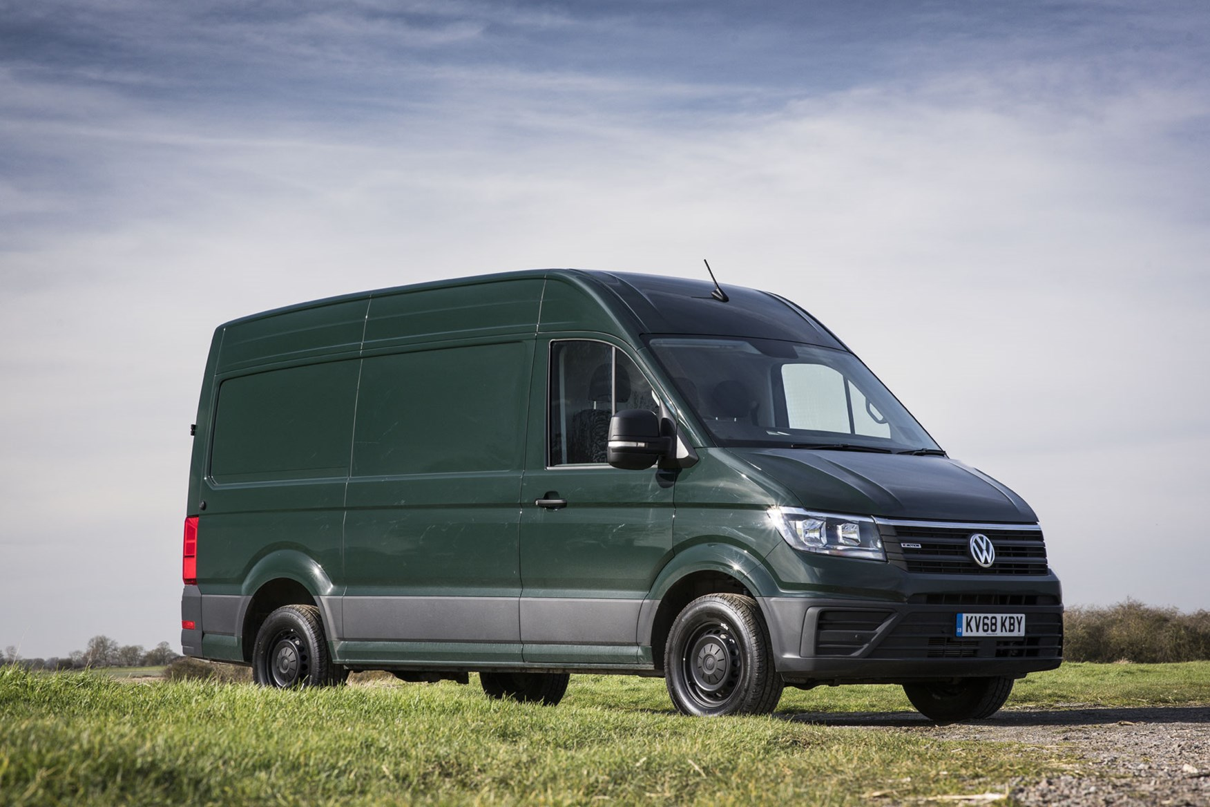 VW Crafter 4Motion review - Ontario Green, front view