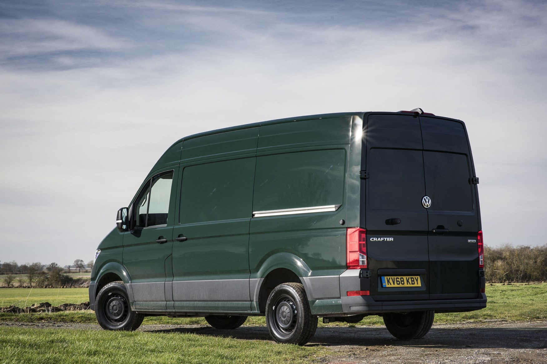 VW Crafter 4Motion review - Ontario Green, rear view