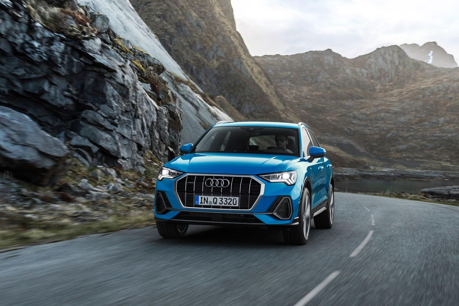 Audi Q3 driving shot