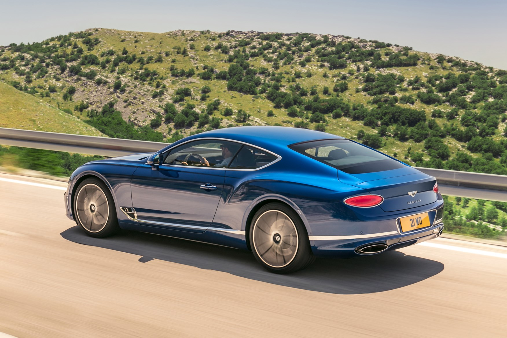 Bentley Continental GT features air springs for exceptional ride comfort