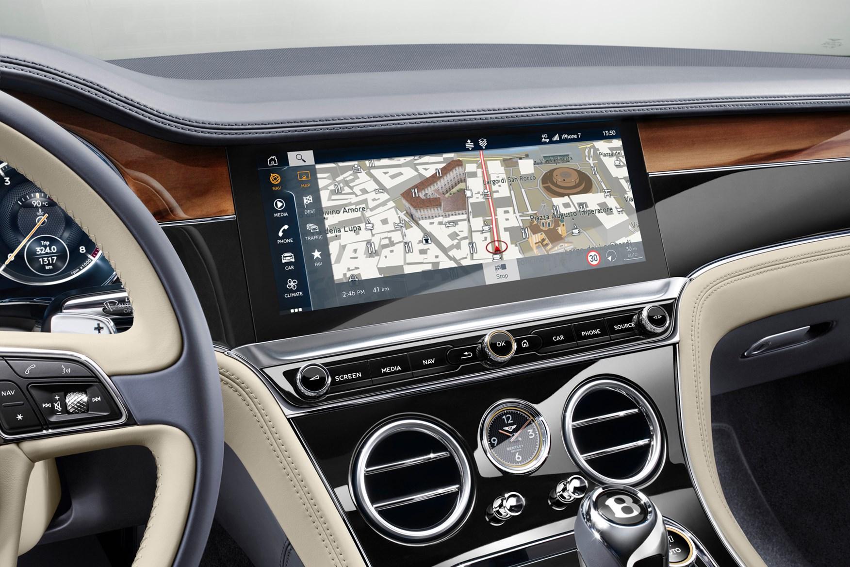 Bentley Continental GT multimedia screen