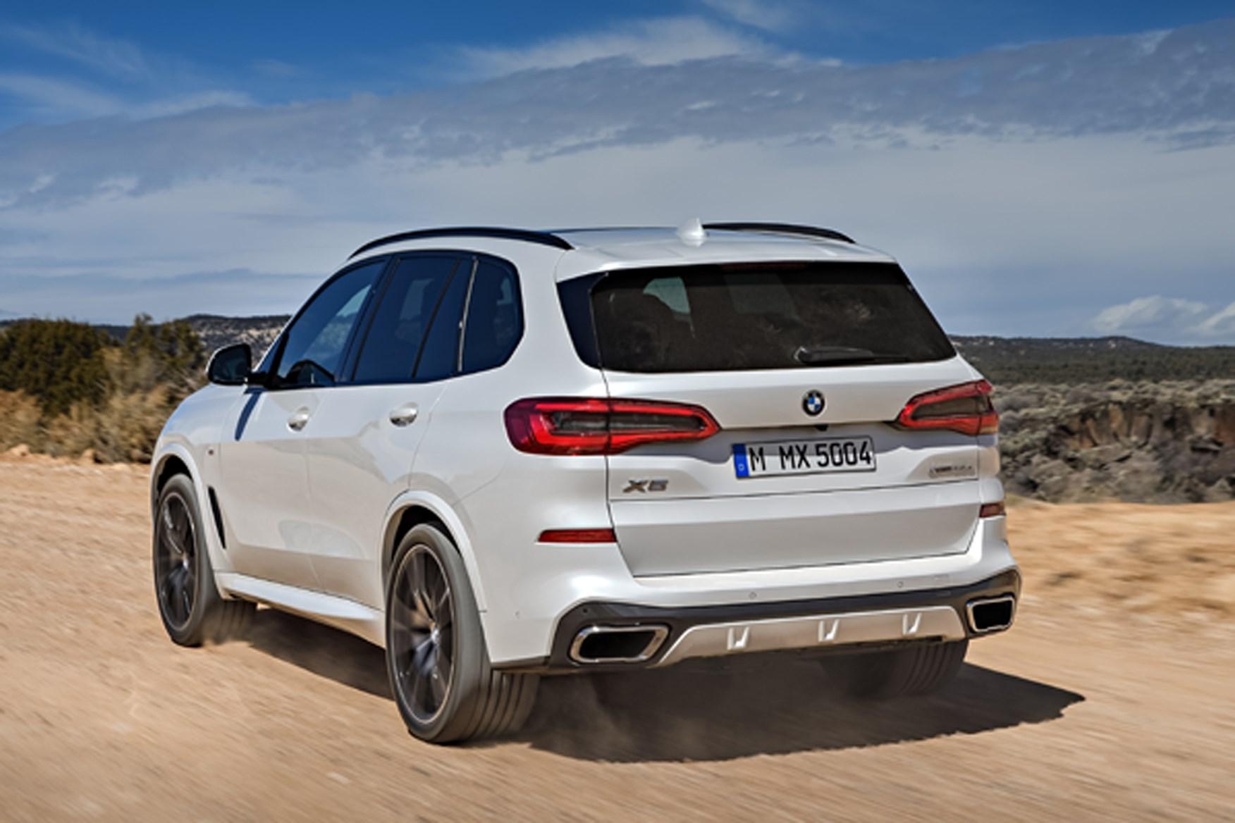 BMW X5 2018 rear driving shot
