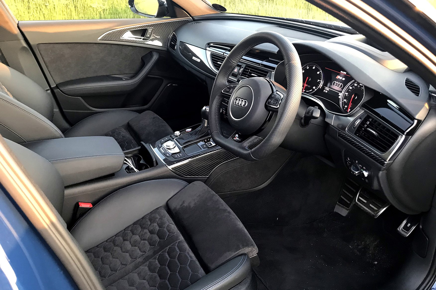 The Audi RS6 interior is a high quality place to spend time
