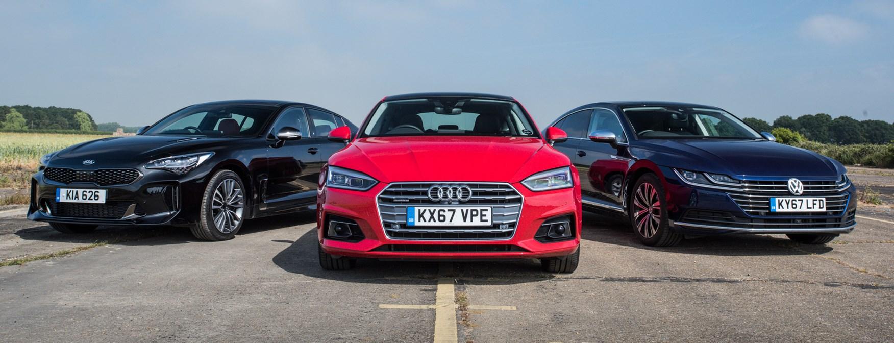 Kia Stinger vs Audi A5 Coupe vs VW Arteon