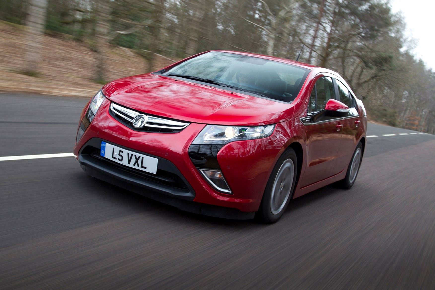 2014 Vauxhall Ampera on the road, front