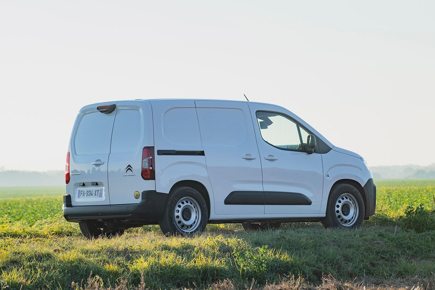 Citroen Berlingo review - driving, white, rear view