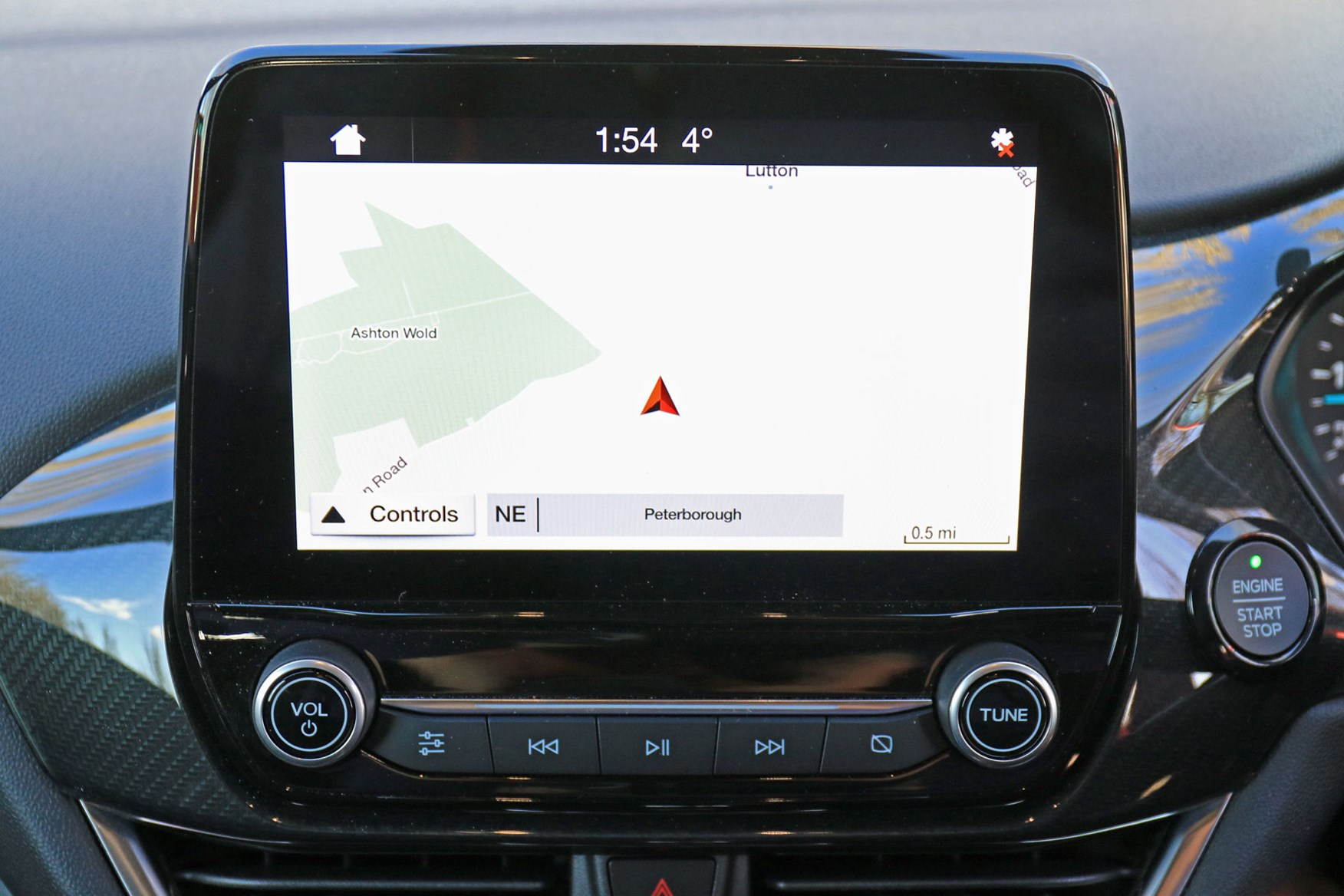 Ford Fiesta Sport Van review - Ford Sync touchscreen