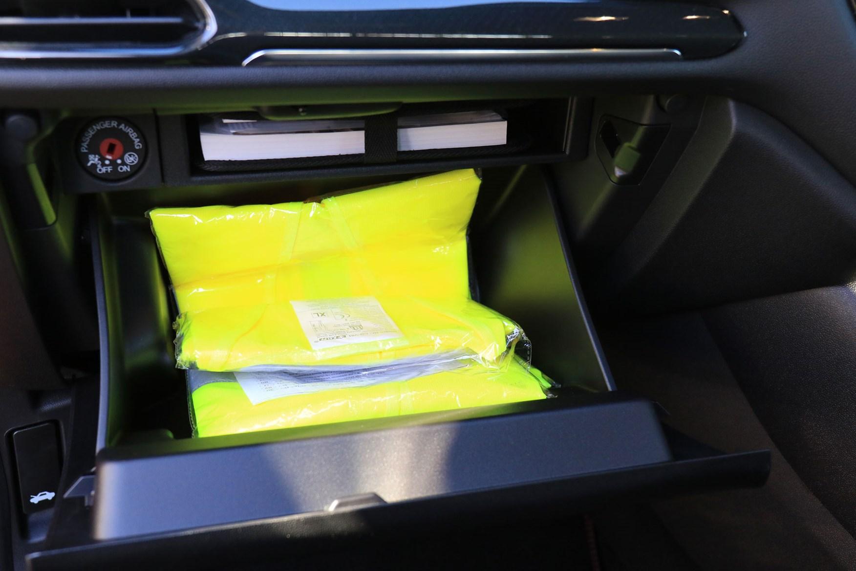 Ford Fiesta Sport Van review - glovebox, storage