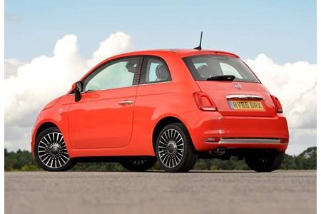 Fiat 500 Hatchback Rear Three Quarter