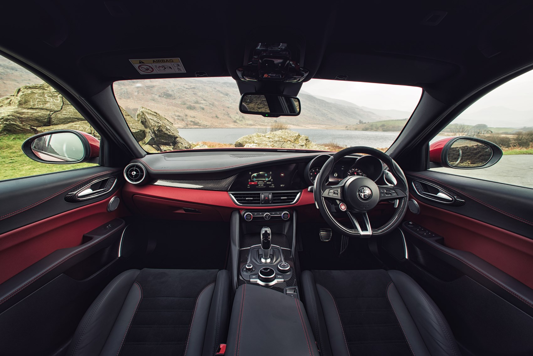 Quadrifoglio on Alfa Romeo Giulia Interior