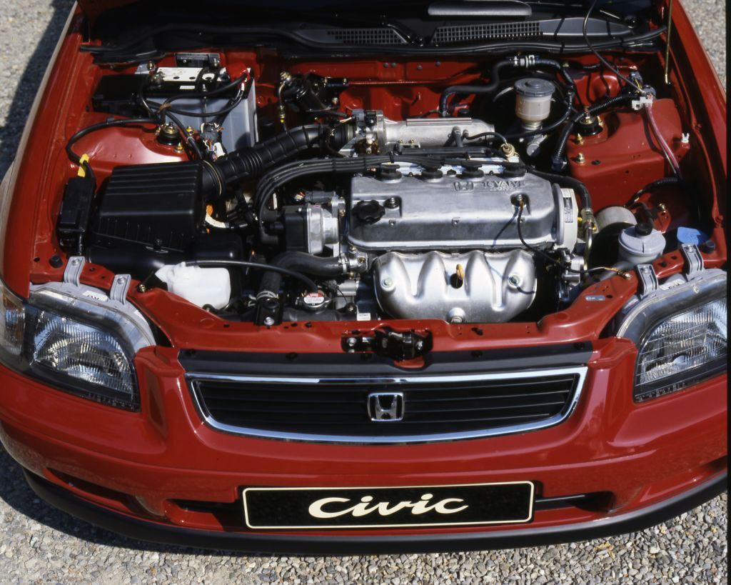 1995 honda civic hatchback red