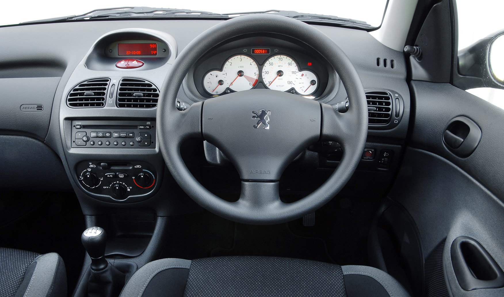 Peugeot 206 hatchback 1998 2009 features equipment for Peugeot 107 interior