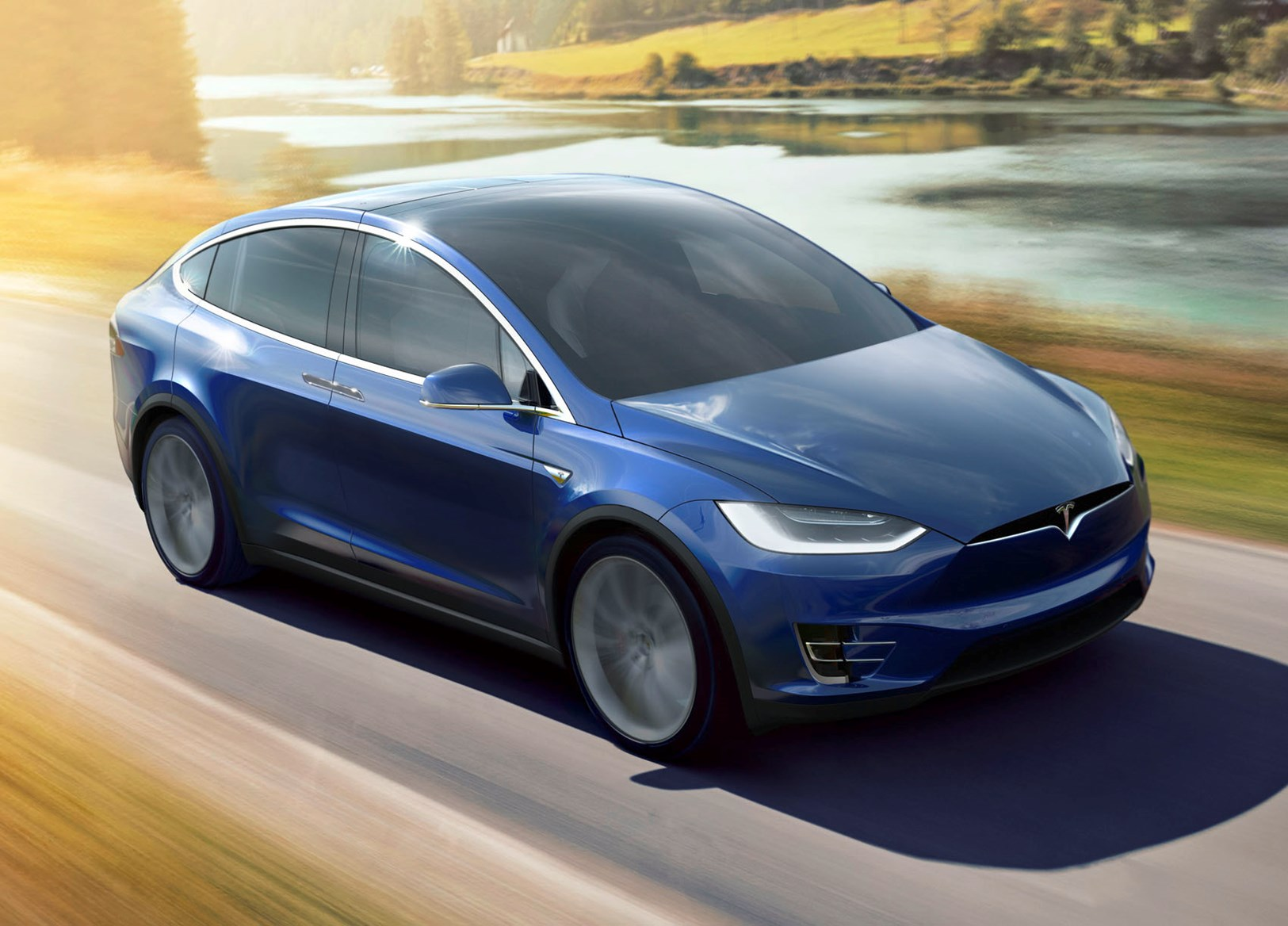 Tesla model x suv 2016 driving performance parkers for Tesla model x exterior