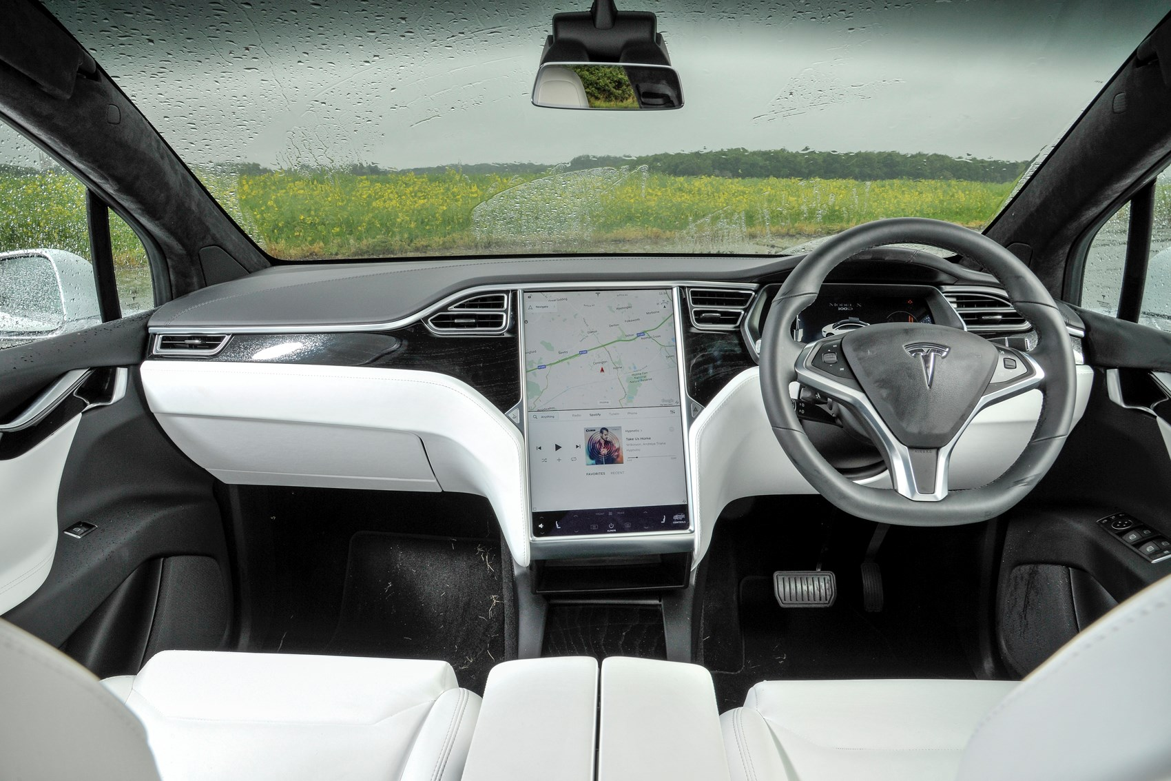 Tesla 2017 Model X Suv Interior Detail