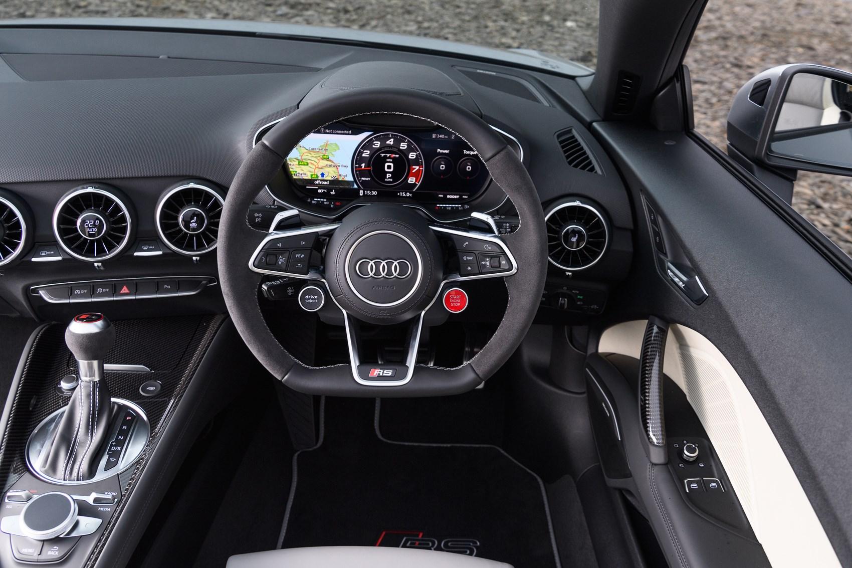 audi 2016 ttrs roadster main interior