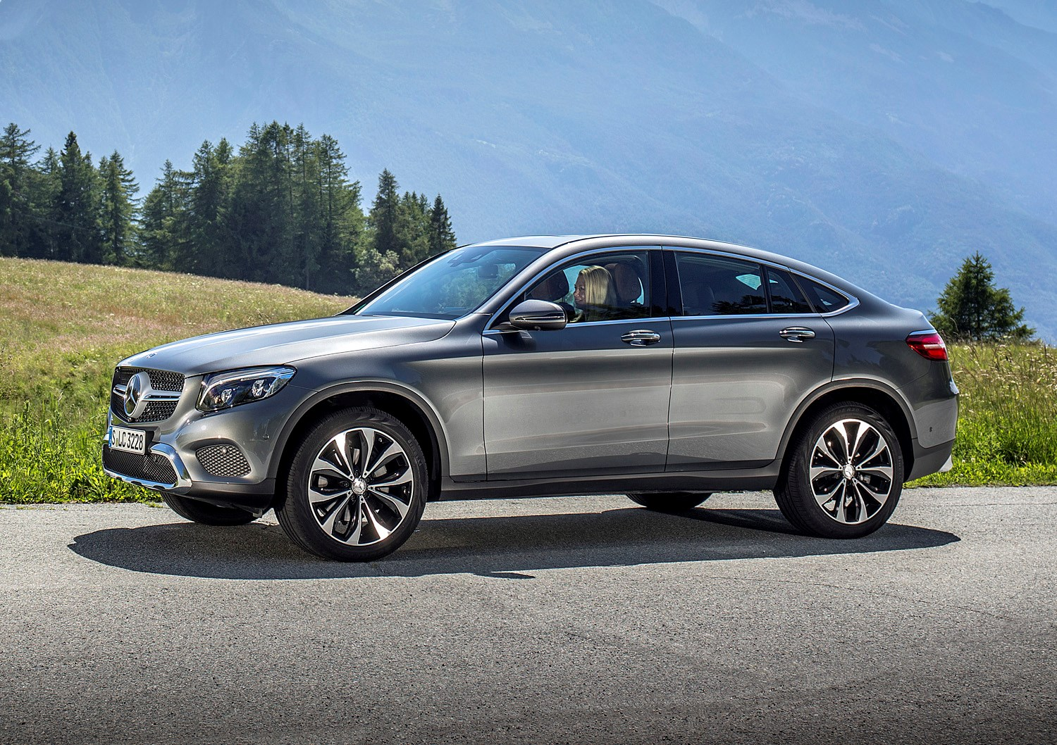 Mercedes Glc Coupe 250d Side Grey