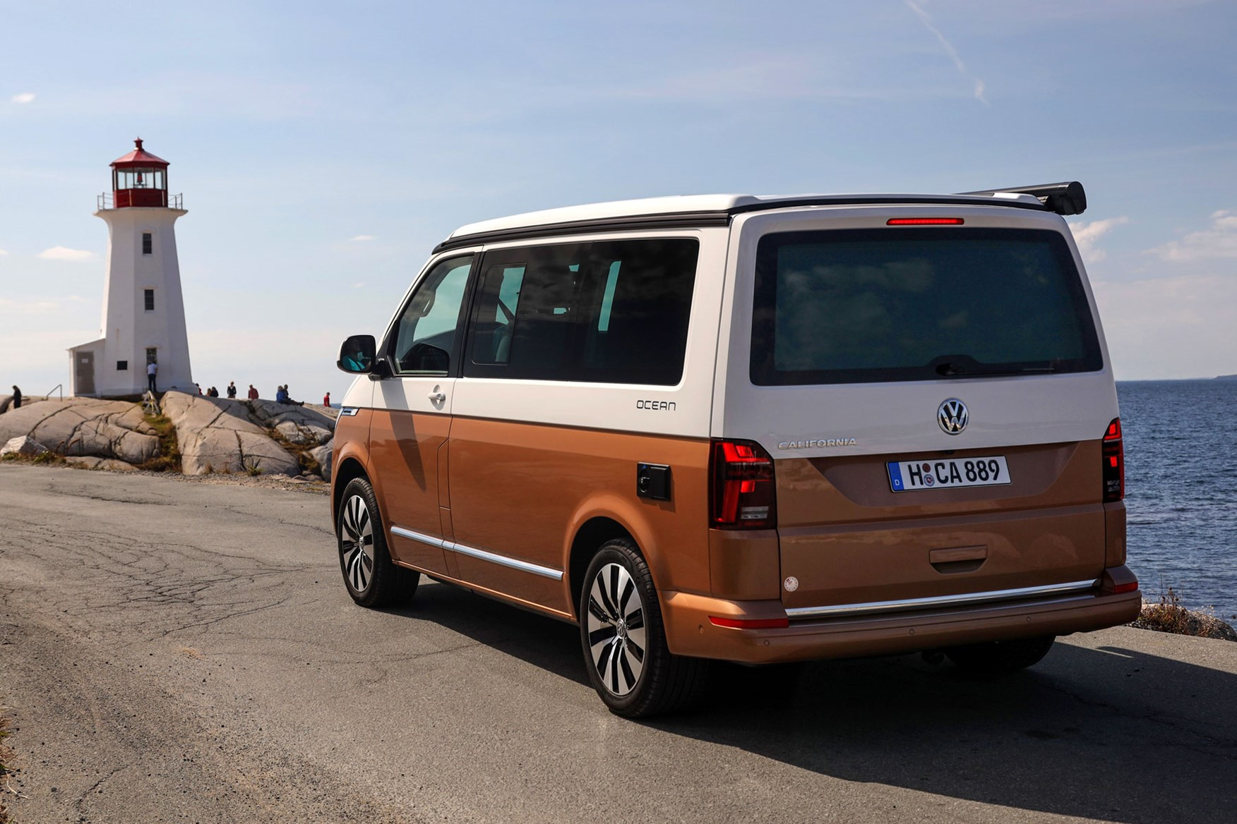 GENUINE VW VOLKSWAGEN LONG ARM REAR VIEW MIRROR 2 TONE FITS VWFITS VW T5 T6