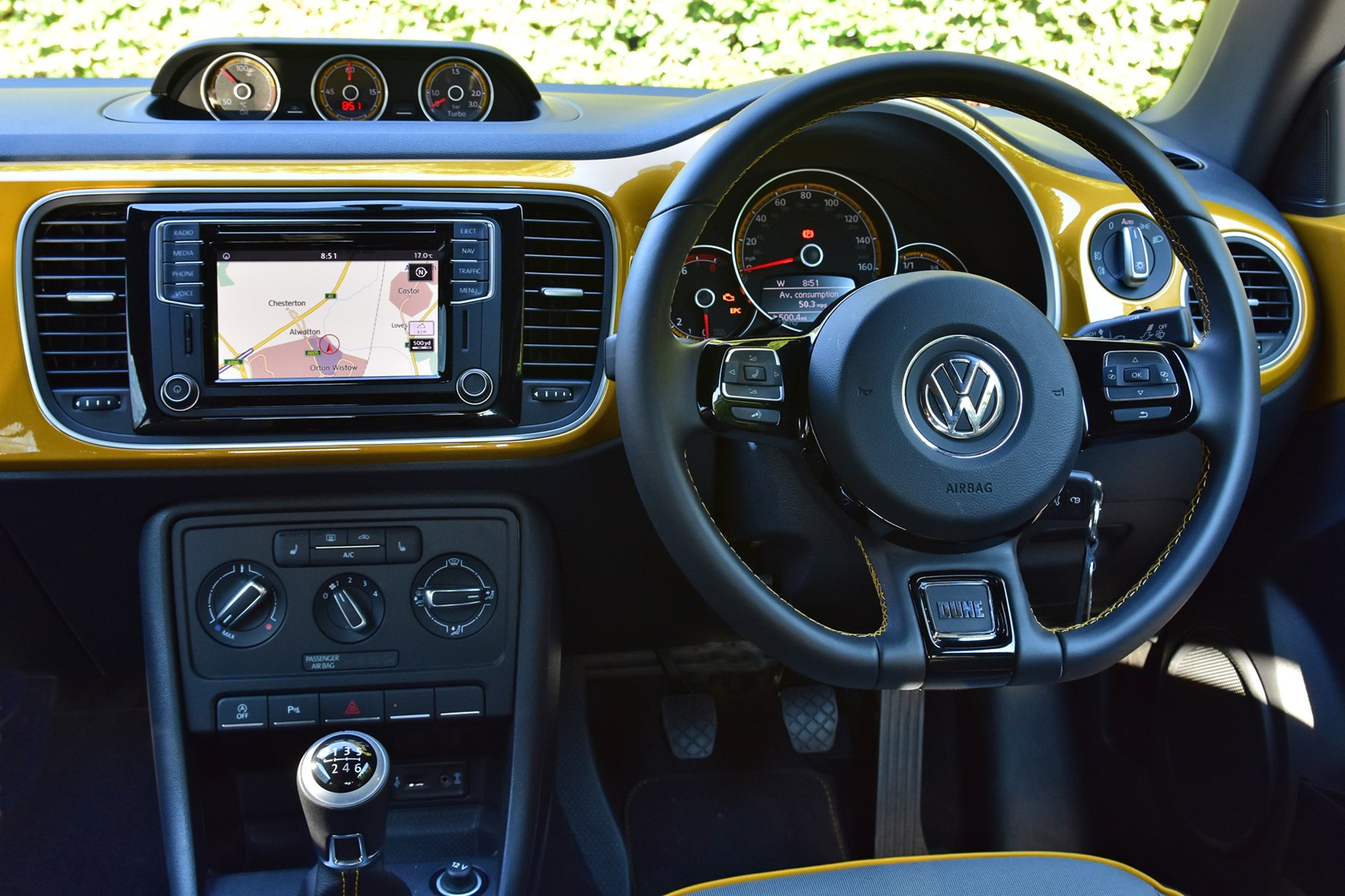 Vw 2016 Beetle Dune Coupe Interior Detail