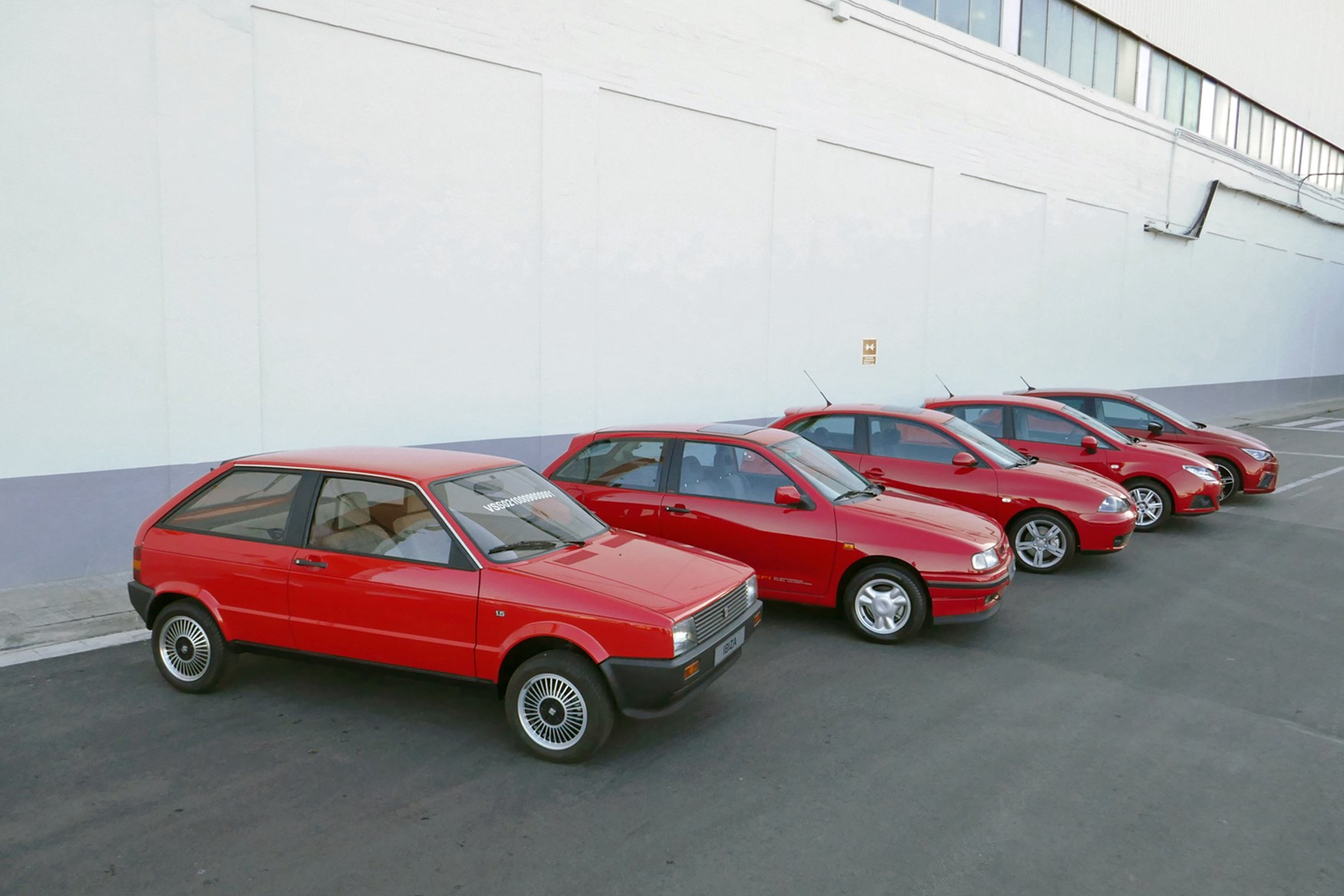 Five generations of SEAT Ibiza SEAT Ibiza Mk1 ...