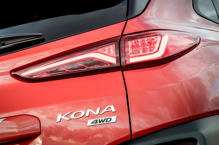 2019 Hyundai Kona 4WD badge