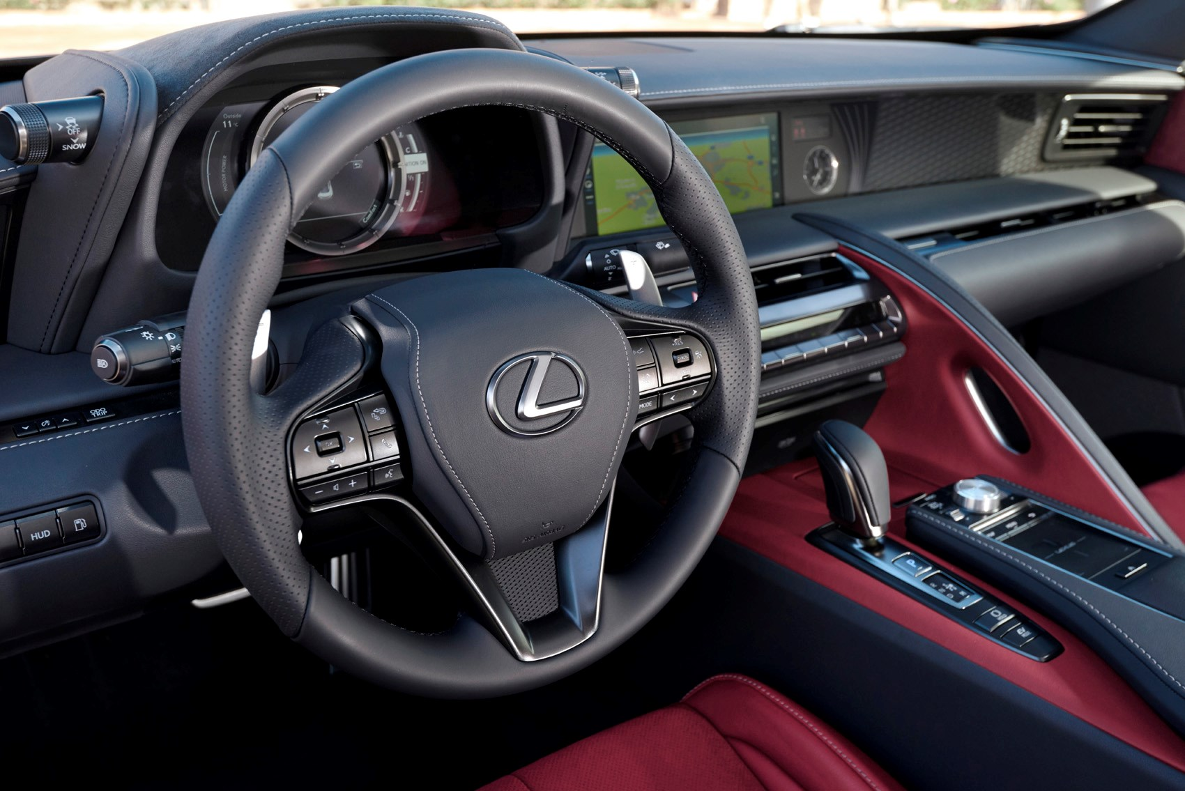 Lexus 2017 Lc Coupe Interior Detail