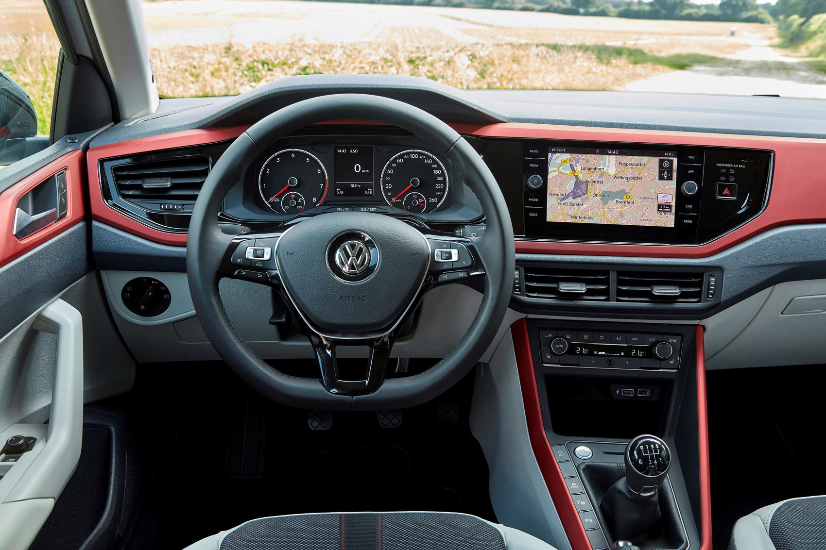Vw polo review features safety and practicality parkers vw 2017 polo interior detail publicscrutiny Choice Image