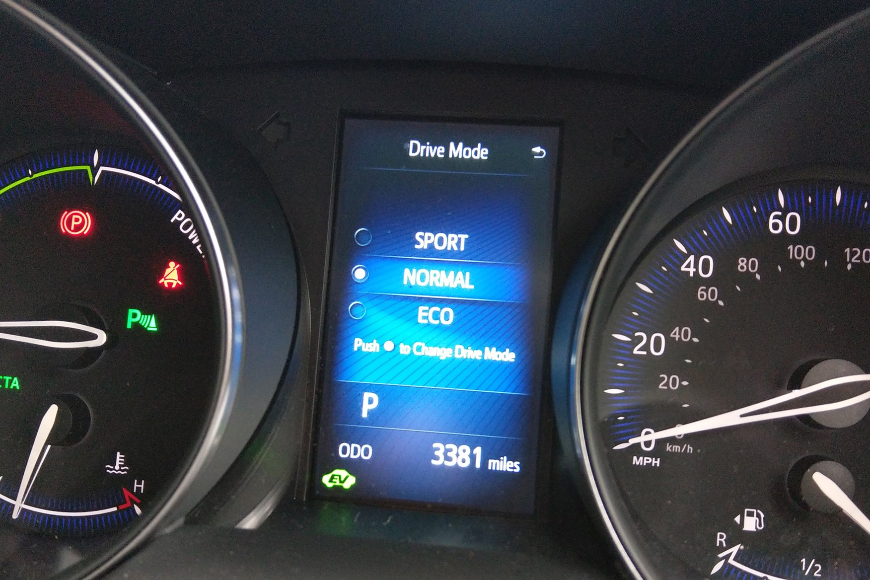 Ev Mode On Toyota C Hr Has Three Drive Modes Sport Eco And Default Normal