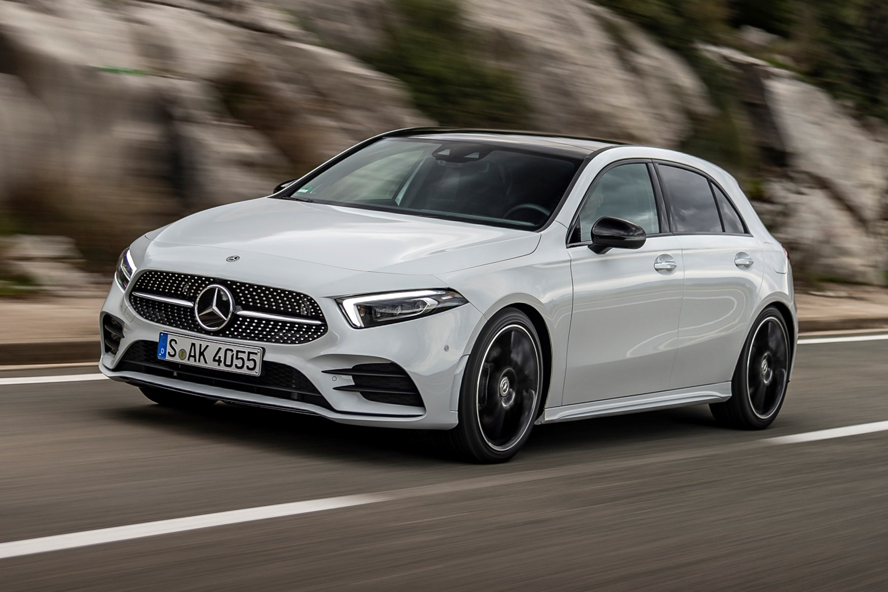 Mercedes A Class Review Features Safety And Practicality Parkers A190 Wiring Diagram A180 White Front Side Driving