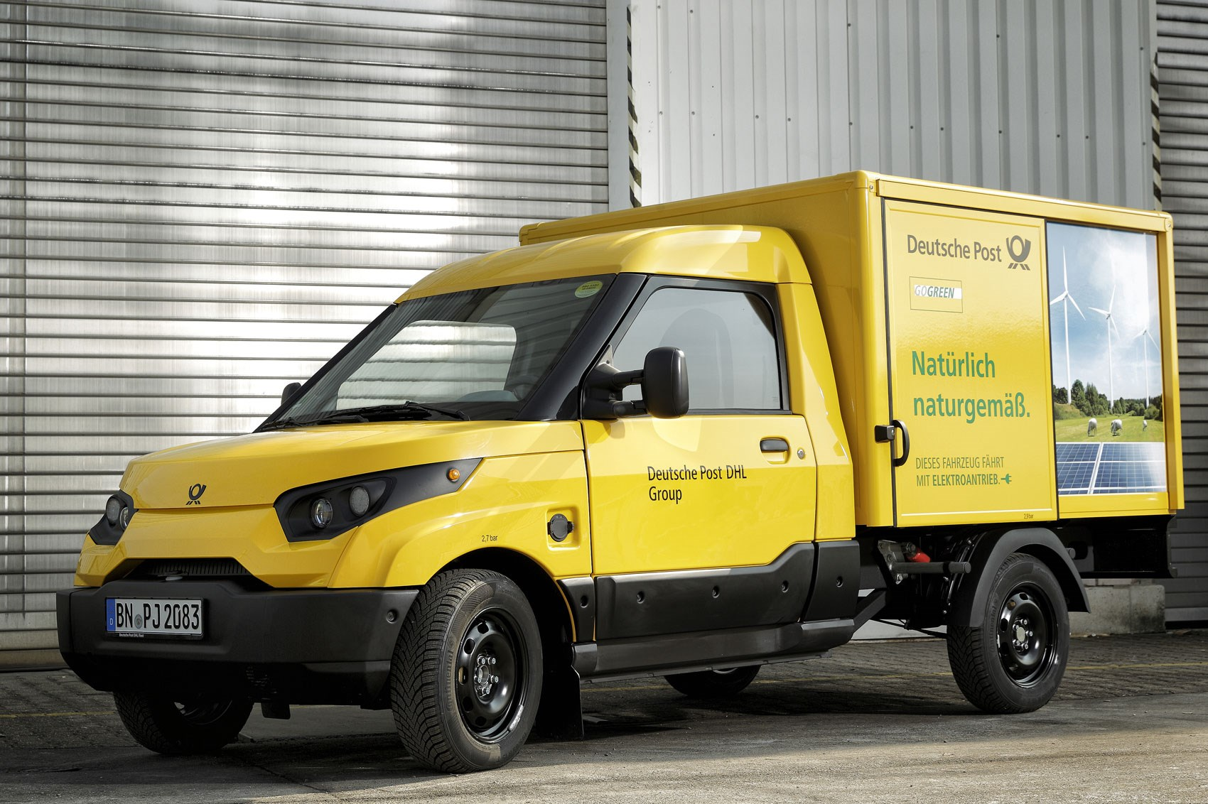 70a1ea43ba Official pictures and details of Ford Transit-based Deutsche Post electric  van