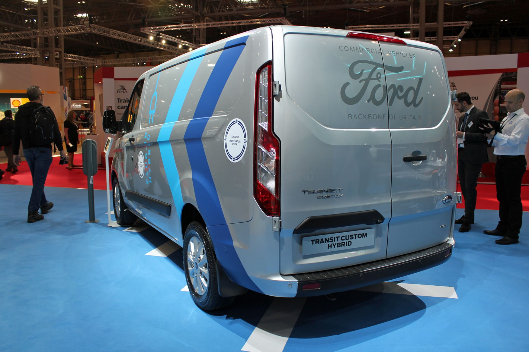 Ford Transit Custom Plug In Hybrid At The Cv Show 2019 Rear View