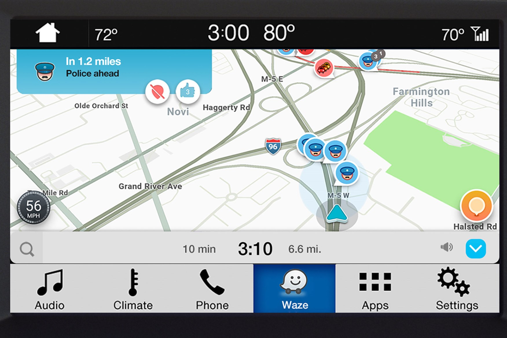 iPhone users get Waze on Ford Sync 3 | Parkers