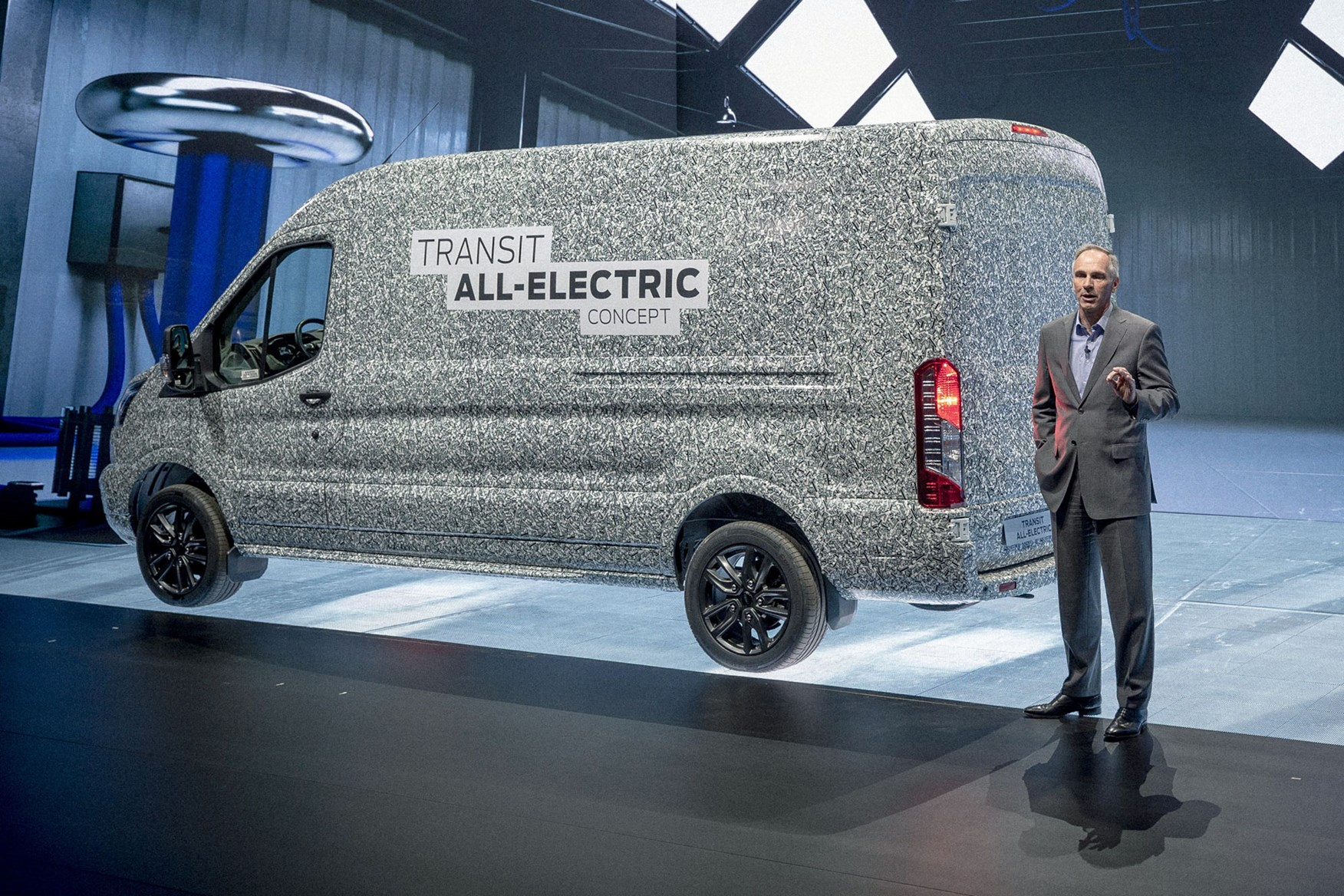 bc1966fda9 ... Ford Transit Electric van concept - on sale in 2021 ...