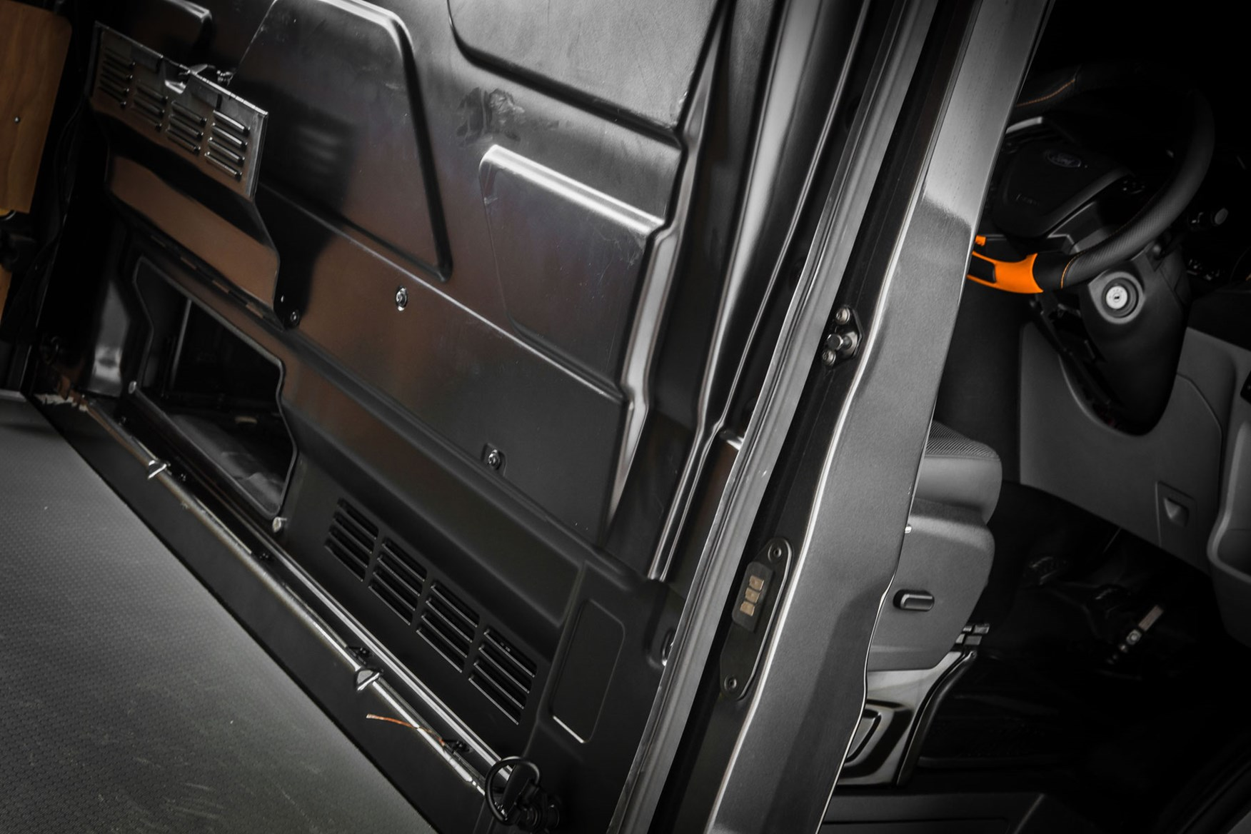 0781d554b1 ... Ford Transit Guy Martin Edition review - load-through hatch in bulkhead  ...