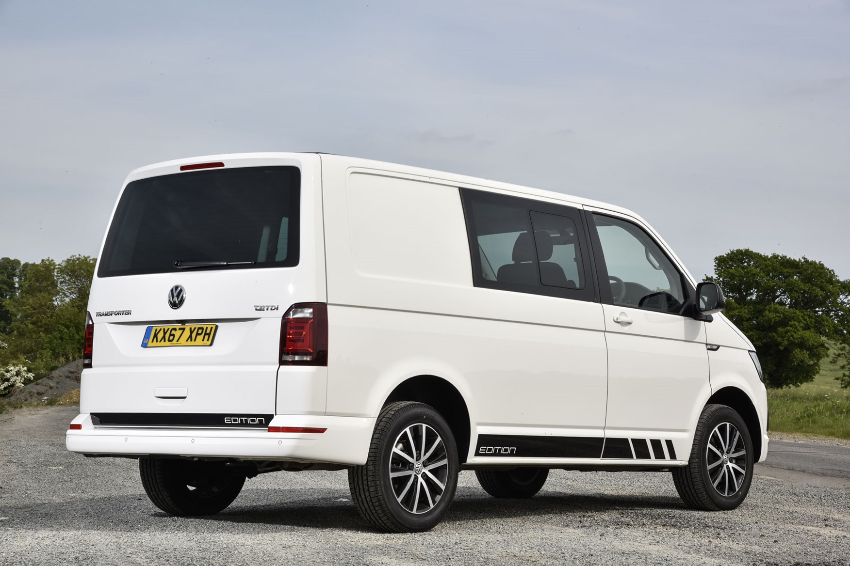 2acb4f60949 VW Transporter Edition review VW Transporter Edition review, white, rear  view ...