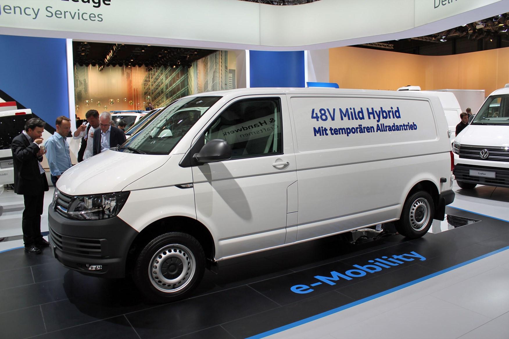 Vw Transporter Mild Hybrid Sel Electric Conversion At The Iaa 2018 Vauxhall Combo Van