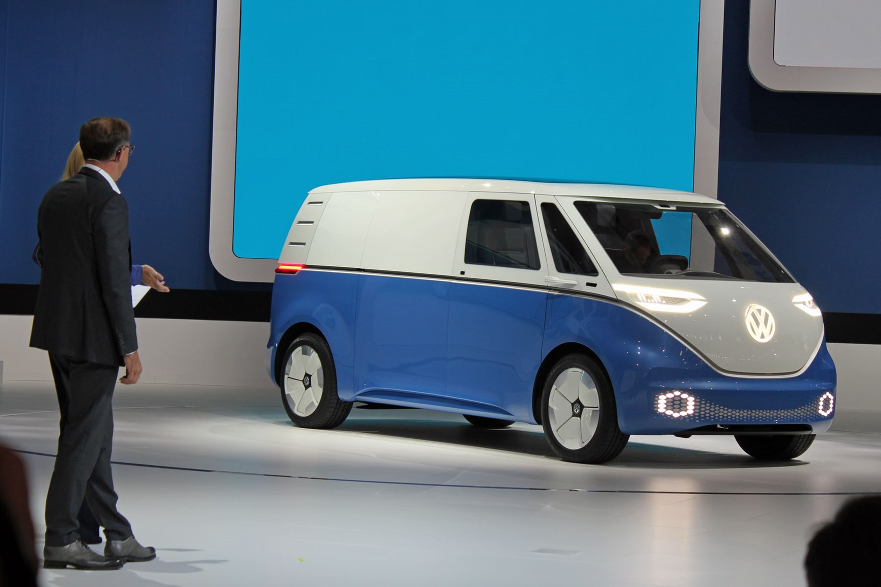 VW ID Buzz Cargo all-electric van concept world debut at the 2018 IAA Commercial Vehicles show ...