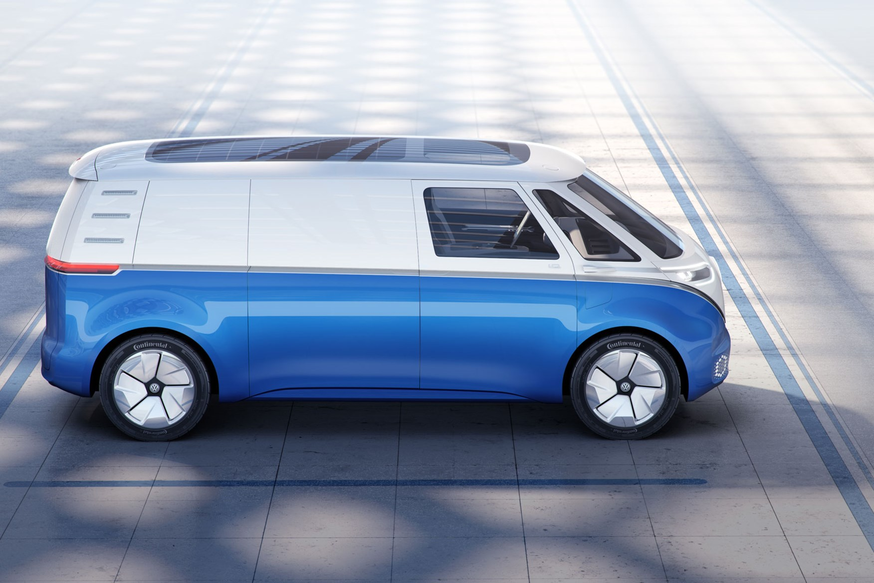 Vw Id Buzz Cargo Concept Side View