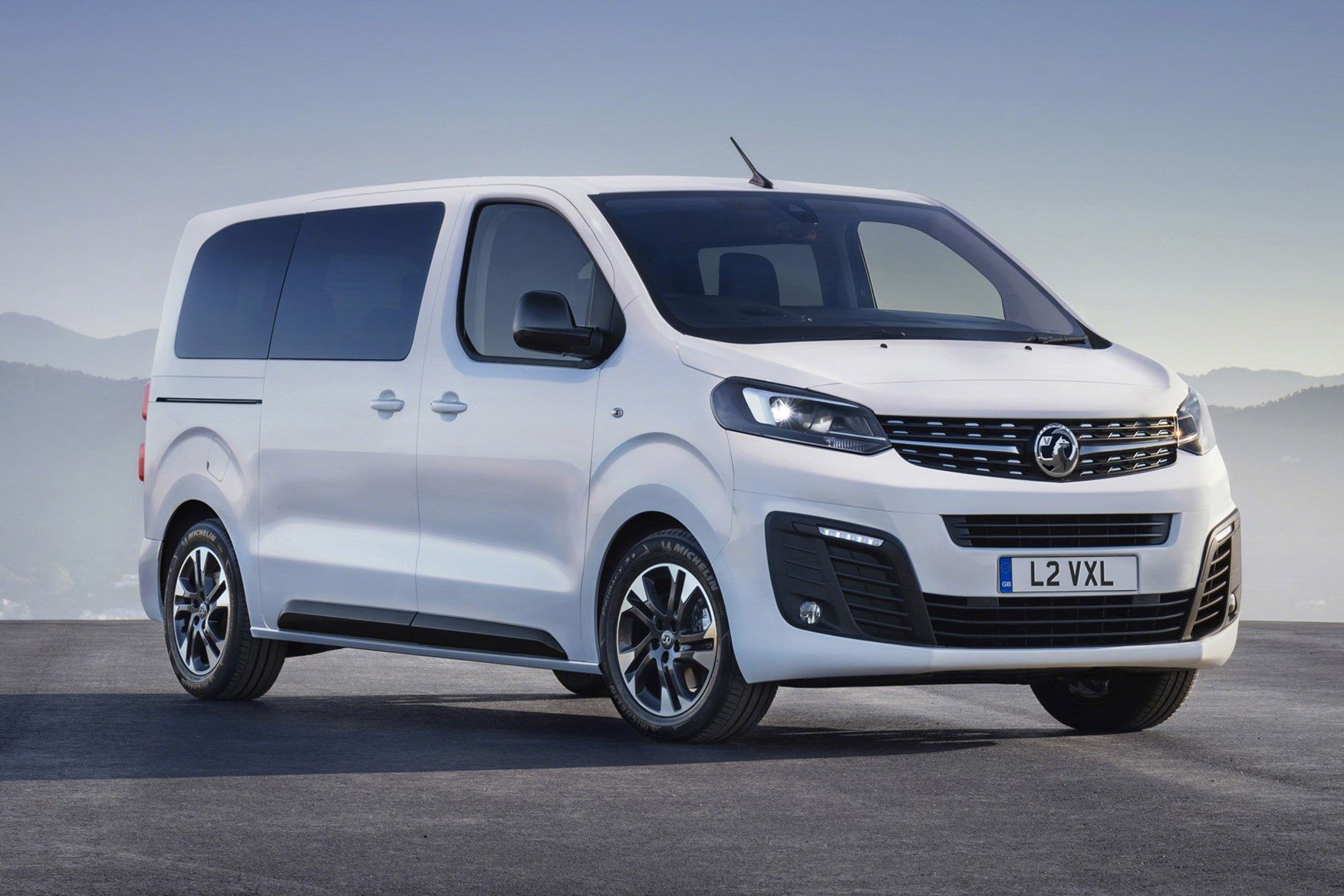 1b75b96f9d ... All-new Vauxhall Vivaro on-sale in 2019 - front view of Life MPV