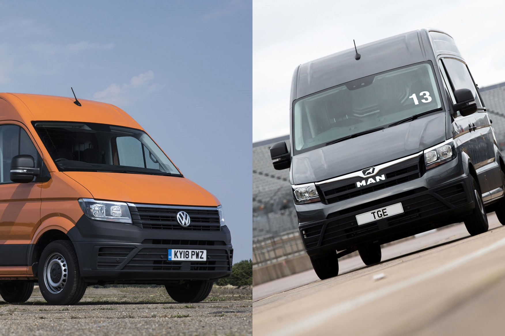 1cd714f126 VW Crafter (left) and MAN TGE (right) - where do they rank among the best  large vans  Fiat ...