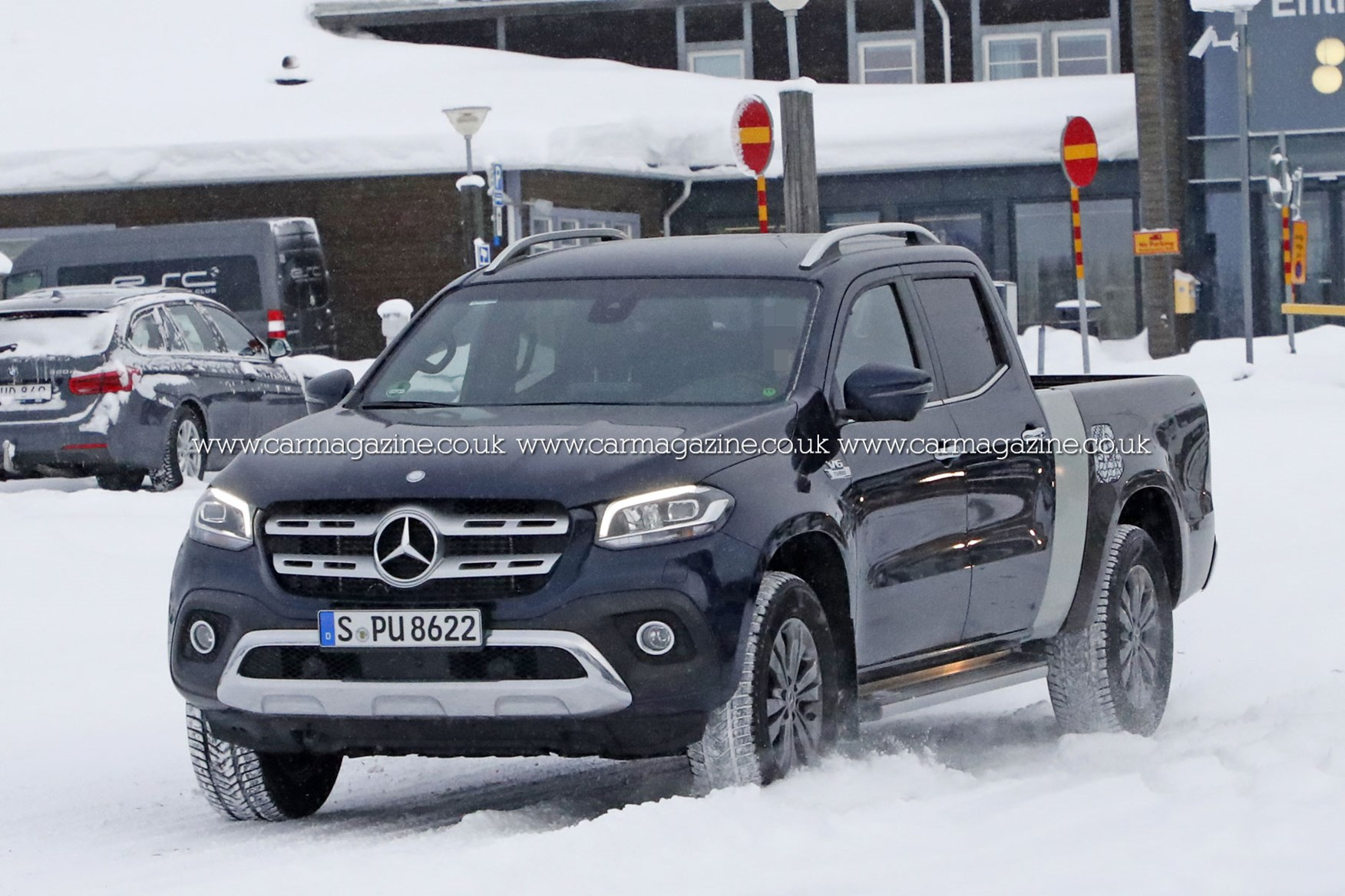 Mercedes X Class Lwb With Extended Load Bed Spied Testing Parkers