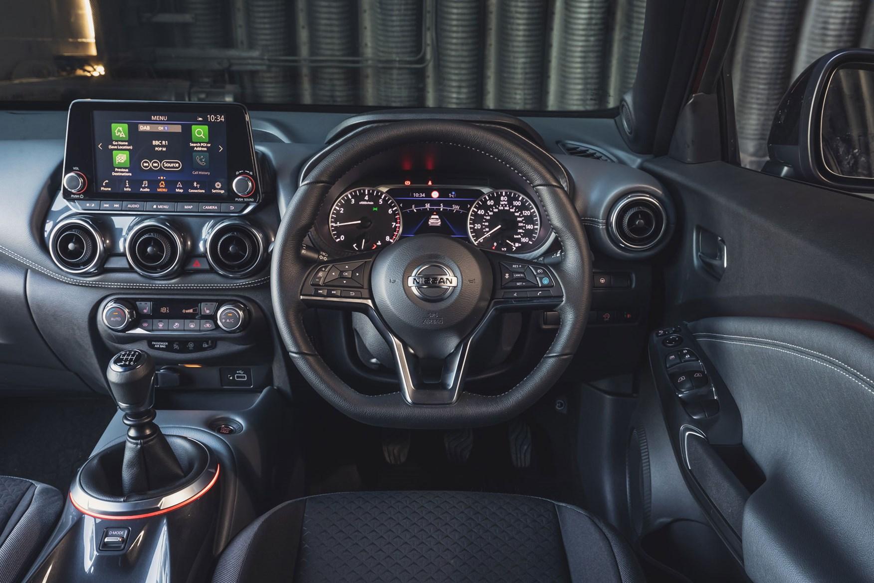 Nissan Juke 2021 Interior Layout Dashboard Infotainment Parkers