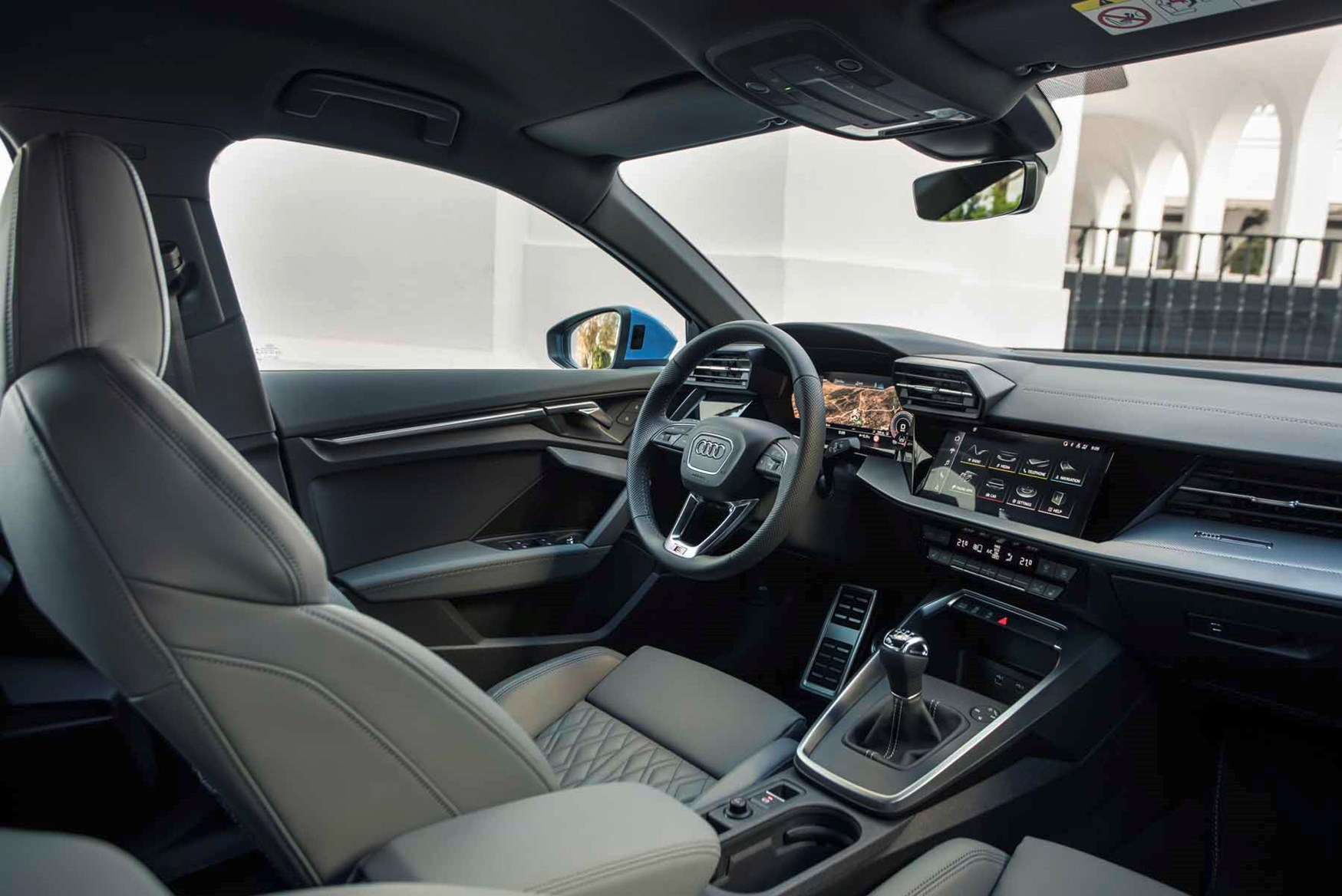 Audi A3 2020 Interior Layout Dashboard Infotainment Parkers