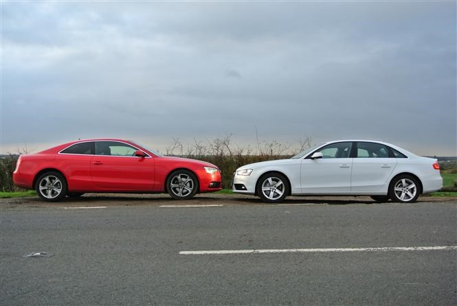 Audi A Coupe Taking On The A Saloon Parkers - Audi a4 coupe