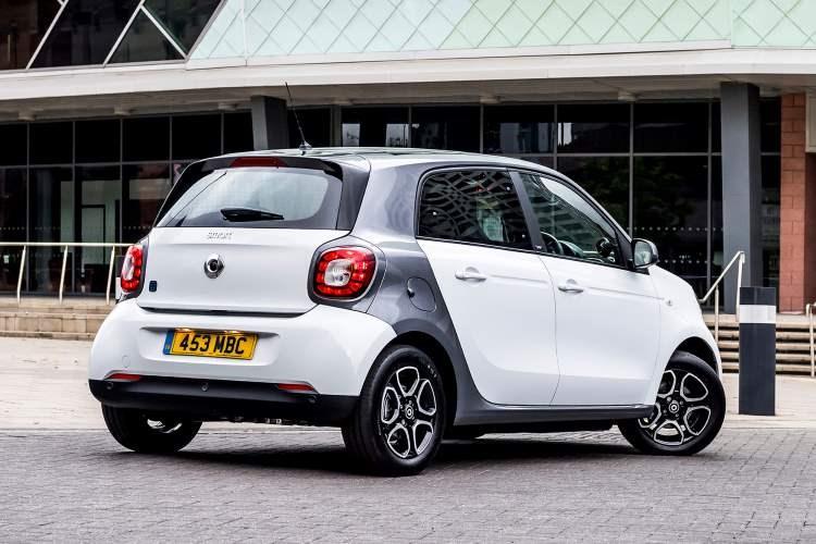 Smart Forfour hatchback rear three-quarter